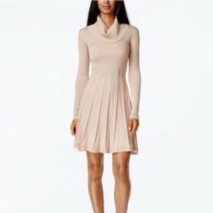 CALVIN KLEIN- Turtleneck Dress, S, Pink